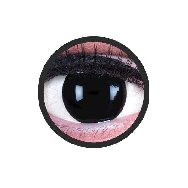 Blind zwarte kleurlenzen