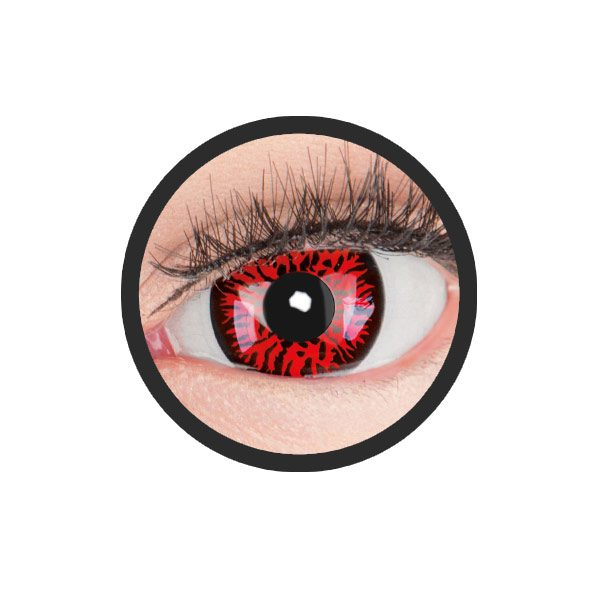 Sclera red demon lenzen 17mm